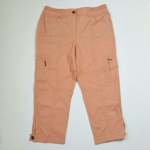 Chicos Pink Cargo Pants